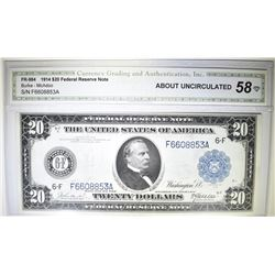 1914 $20 FEDERAL RESERVE NOTE FR984