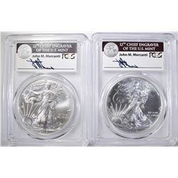 2 2017(W) ASE PCGS MS-70 MERCANTI SIGNED 1 OF 1000