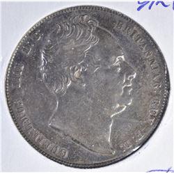 1836 SILVER HALF-CROWN ENGLAND  CH AU