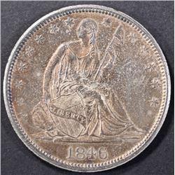 1846-O SEATED LIBERTY HALF DOLLAR CH ORIG UNC
