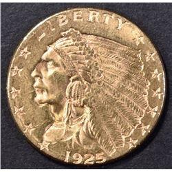 1925-D $2.5 GOLD INDIAN CH/GEM BU