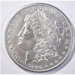 """1890-CC MORGAN DOLLAR """"TAILBAR"""" BU"""