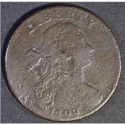 1799 DRAPED BUST LARGE CENT F