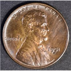 1931 S LINCOLN CENT  CH BU+ RB