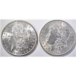 1887 & 96 MORGAN DOLLARS BU