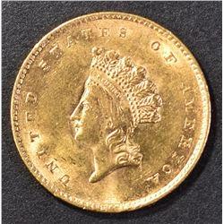 1855 $1.00 GOLD GEM BU
