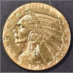 1913-S $5.00 GOLD INDIAN CH BU