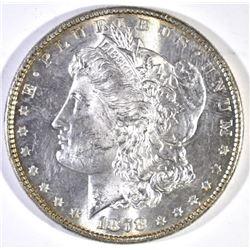 1878 8TF MORGAN DOLLAR, GEM BU SEMI-PL