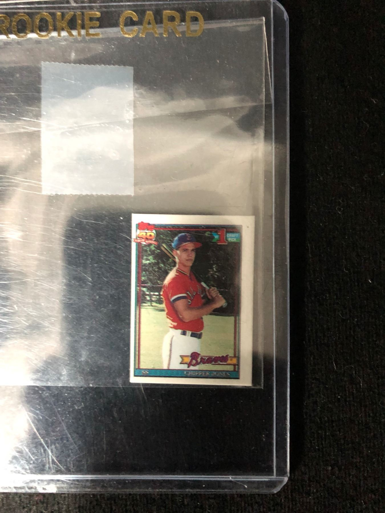 1991 Topps 333 Chipper Jones Micro Rookie Card