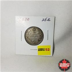 Canada Twenty Five Cent: 1930