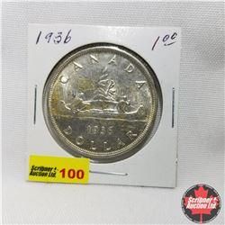 Canada Silver Dollar : 1936