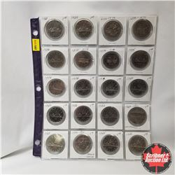 Canada One Dollar - Sheet of 20: 1968; 1969; 1870-1970; 1871-1971; 1972; 1873-1973; 1874-1974; 1975;