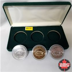 Canada Lac La Biche Set of 3 Coins in Case - Bicentennial 1798-1998