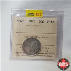 Newfoundland Twenty Cent : 1873 (ICCS Cert. F-12)