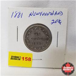 Newfoundland Twenty Cent : 1881