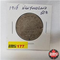 Newfoundland Fifty Cent : 1918