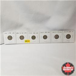USA Ten Cent - Strip of 6 : 1940; 1941; 1942; 1943; 1944S; 1945D