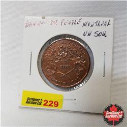 Banque Du Peuple Montreal Un Sou