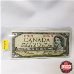 Canada $20 Bill 1954DF (Beattie/Coyne S/N#EE1921421)