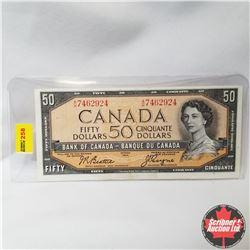 Canada $50 Bill 1954 (Beattie/Coyne S/N#AH7462924)
