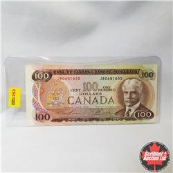 Canada $100 Bill 1975 (Lawson/Bouey S/N#JB0641655)