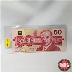 """Canada $50 Bill 1988 (Knight/Dodge S/N#FMD2308032) """"Radar"""""""