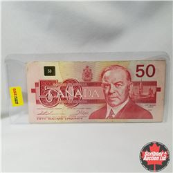 Canada $50 Bill 1988 Replacement (Thiessen/Crow S/N#EHX3380811)