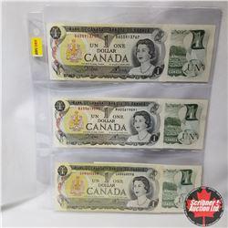 Canada $1 Bills 1973 Variety (6)