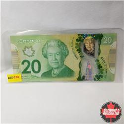 Canada $20 Bill 2012 (Dropped 9) BSL3578239 Macklin/Carney