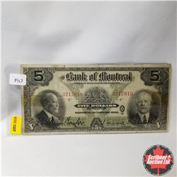 The Bank of Montreal : $5 Bill 1923