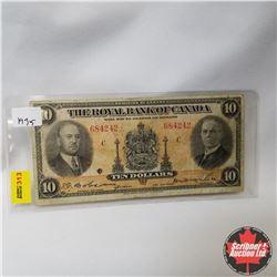 The Royal Bank of Canada : $10 Bill 1935