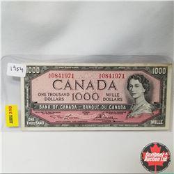 Canada $1000 Bill 1954 (Lawson/Bouey S/N#AK0841971)