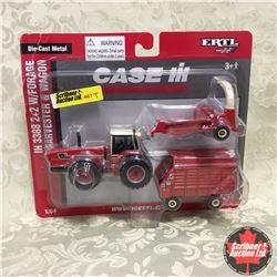 CASE IH 3388 2+2 w/Forage Harvester & Wagon (Scale: 1/64)