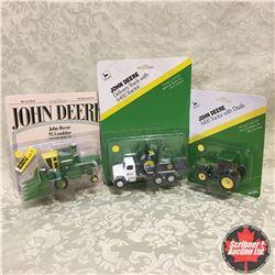 John Deere Combo: Combine, Tractor, Delivery Truck w/\Tractor (Scale: 1/64)
