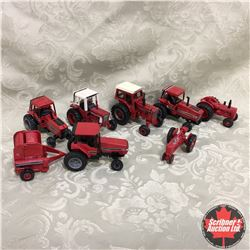 Box Lot: Variety of IH Tractors & Baler (Scale: 1/64)