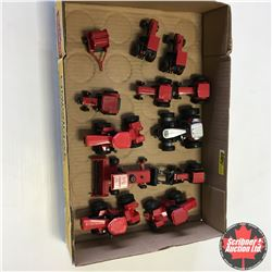 Tray Lot: Variety of CASE IH Tractors, Swather & Baler (Scale 1/64)