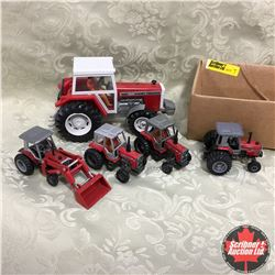 Box Lot: Variety of Massey Ferguson Tractors - 1/64 Scale (4) & 1/32 Scale (1)