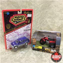 Honda ATC 90 (Scale 1/16) & Chevy Blazer Truck (Scale 1/43)