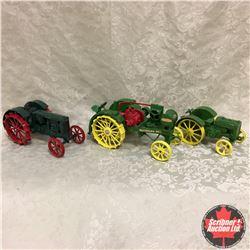 Tray Lot: Steel Wheel Tractor Combo: Waterloo Boy Special Edition, John Deere, Massey Harris Pacemak