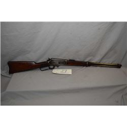 "Marlin Model 1893 .32 H.P.S. Cal Lever Action Saddle Ring Carbine w/ 20"" bbl [ traces of fading blue"