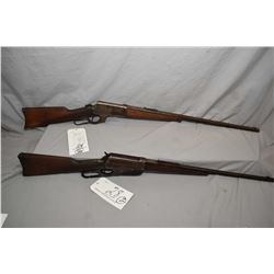"Lot of Two Firearms - Winchester Model 1895 .40 - 72 WCF Cal Lever Action Rifle w/ 22 1/4"" shortened"