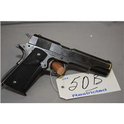 Restricted - Colt Model 1911 A 1 Government .45 Auto Cal 7 Shot Semi Auto Pistol w/ 127 mm bbl [ fla