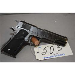 Restricted - Colt Model 1911 A 1 Government .45 Auto Cal 7 Shot Semi Auto Pistol w/ 127 mm bbl [ fla