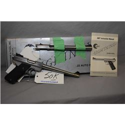 Restricted AMT Model Lightning .22 LR Cal 10 Shot Semi Auto Pistol w/ 216 mm bbl [ stainless finish,