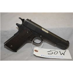Restricted Colt Model 1911 Military .45 Auto Cal 7 Shot Semi Auto Pistol w/ 127 mm bbl [ flat blued