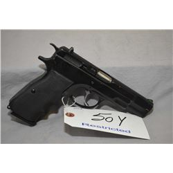 Restricted CZ Model CZ 75 .9 MM Luger Cal 10 Shot Semi Auto Pistol w/ 121 mm bbl [ blued finish, sta