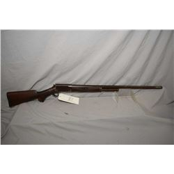 "Burgess Model Slide Action .12 Ga Slide Action Shotgun w/ 30"" bbl [ blued finish turned brown, slidi"