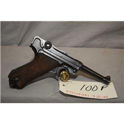 Prohib 12 - 6 - Luger ( BYF ) Model P08 .9 MM Luger Cal 8 Shot Semi Auto Pistol w/ 102 mm bbl [ Nazi