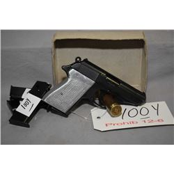 Prohib 12 - 6 Walther Model PPK 7.65 MM Cal 7 Shot Semi Auto Pistol w/ 83 mm bbl [ fading blue finis