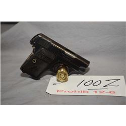 Prohib 12 - 6 Colt Model 1908 Vest Pocket Hammerless .25 Auto Cal 6 Shot Semi Auto Pistol w/ 51 mm b